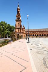Nordturm auf Plaza de Espana, Sevilla, Spanien