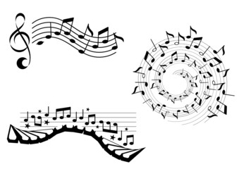 musical notes design elements
