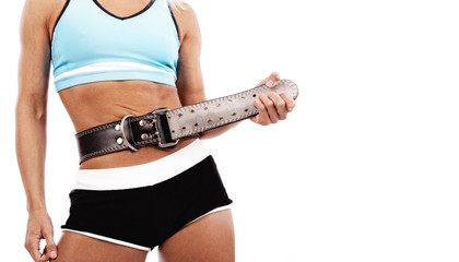 Image of sportswoman with belt