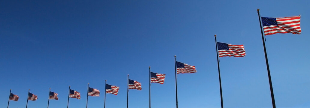flags in a row