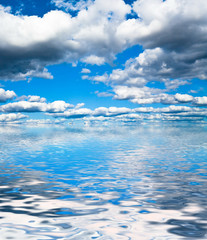 Grand Skyscape Background of Blue Divine Beauty