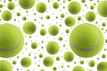 Wall Mural - Tennis balls isolated on white background