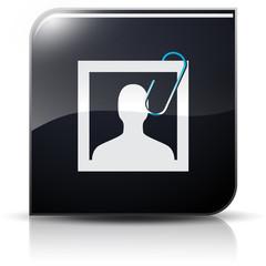 Symbole glossy vectoriel photo identité trombone