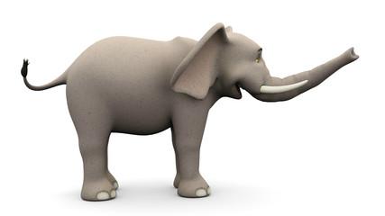elephante cartoon side view