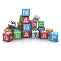 kids block alphabet. mama