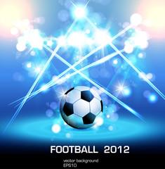 football light poster, easy editable