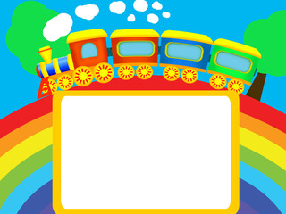 Canvas Prints Rainbow Rainbow, train, frame