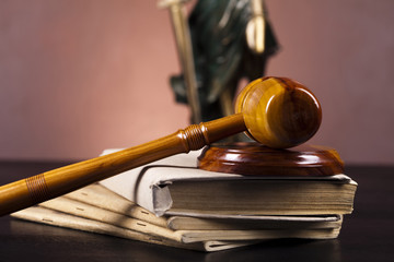 Law and justice concept in Gavel
