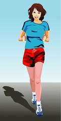 Sports Lady Running