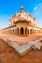 Autocollant pour porte Delhi Safdarjung's Tomb under reconstruction. India, Delhi