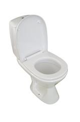 toilet bowl, photo on the white background