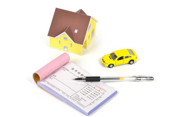 Model house and toy car