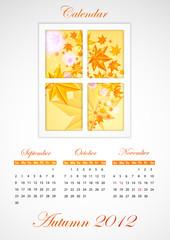 Calendar. Autumn 2012.