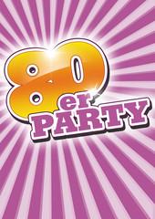 poster flyer 80er-party 80er jahre