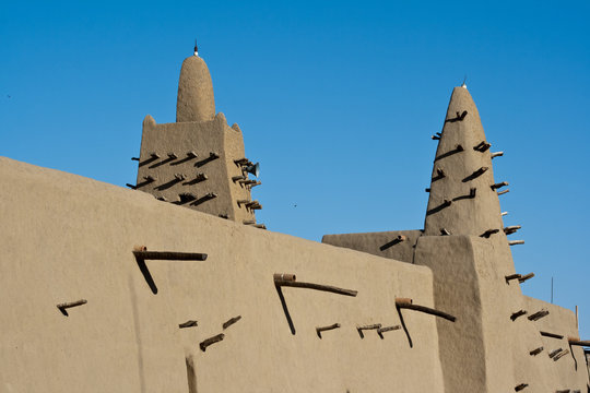 Mud brick mosque, Timbuktu.