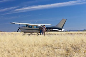 Kleinflugzeug in Afrika