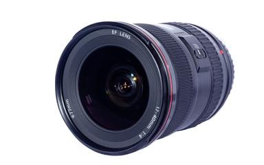 .Professional photo lens isolated on white background