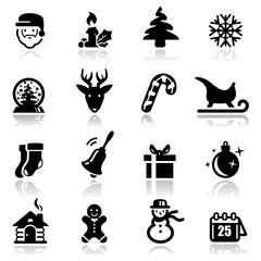 Icons set Christmas