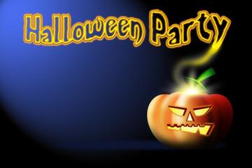 halloween party pumpkin on dark background