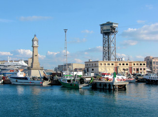 port vell in barcelona, spain, catalonia