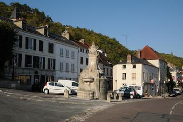 village de La Roche Guyon dans le Val d'Oise