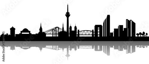 skyline d sseldorf stockfotos und lizenzfreie vektoren auf bild 35875395. Black Bedroom Furniture Sets. Home Design Ideas