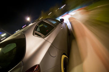 Deurstickers Snelle auto s Car driving fast