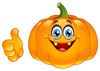 Thumb up pumpkin