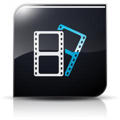 Symbole glossy vectoriel pellicule film cinéma