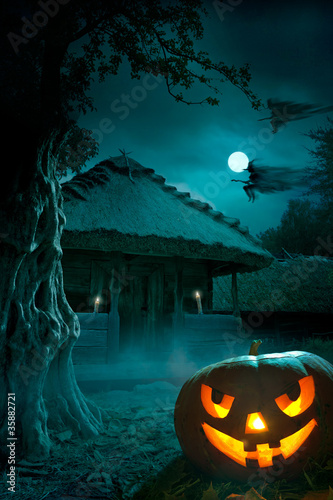 background for a party on Halloween night