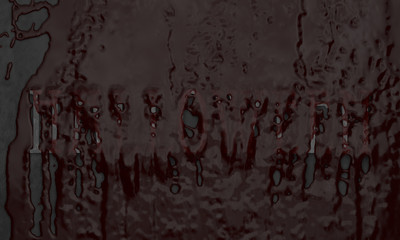 blood flows over lettering halloween