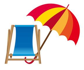 chair beach and umbrella