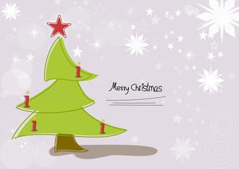 Wehnachtskarte mit Tannenbaum