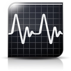 Symbole glossy vectoriel fréquence cardiaque