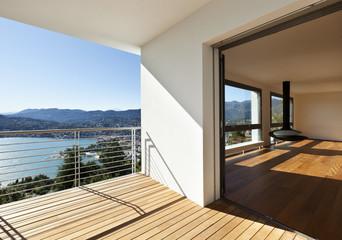 Obraz Modern apartment, balcony with panoramic view - fototapety do salonu