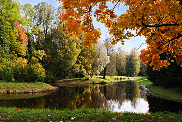 Autumn at a park