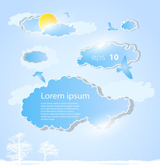 Papiers peints Ciel weather background with clouds
