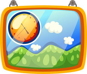 illustration of isolated wall clock on white background