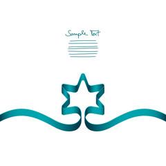Turquoise Ribbon Christmas Star