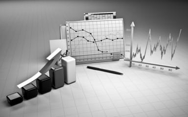 business finance chart, diagram, bar, graphic