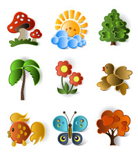Icons of plants and animals