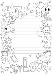Cute doodle frame