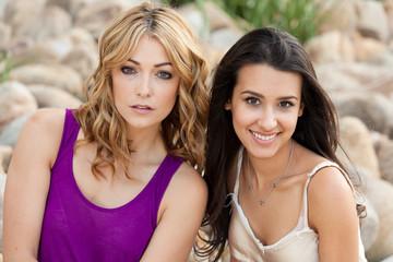 Beautiful young women outdoor portrait