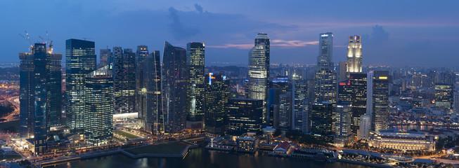 Foto op Plexiglas Singapore Singapore bei Nacht