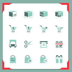 Shopping icons 2 | In a frame series