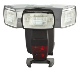 External flash unit with left and right adjustment display