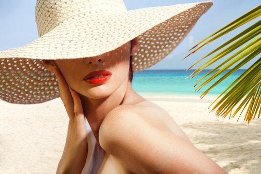 Beauty portrait on the beach