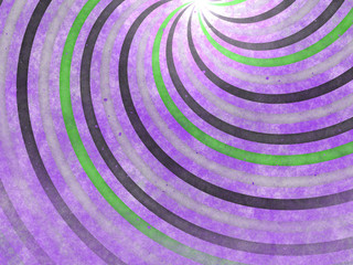 Spiral in purple and green