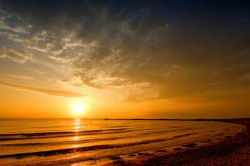 sun rise sea landscape