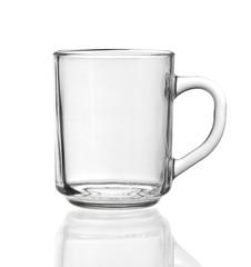 transparent teacup made of glass
